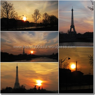 page eiffel tower sunset