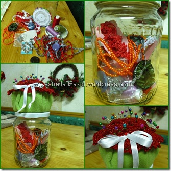 page sewing kit gift in a jar