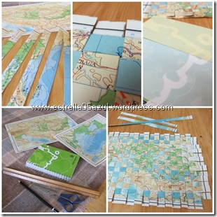 page woven map notebook cover
