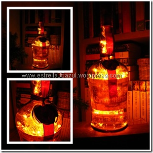 page liqueur bottle light